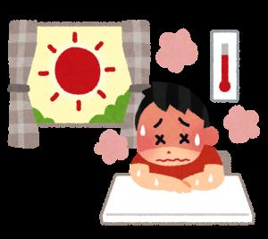 熱中症のイラスト
